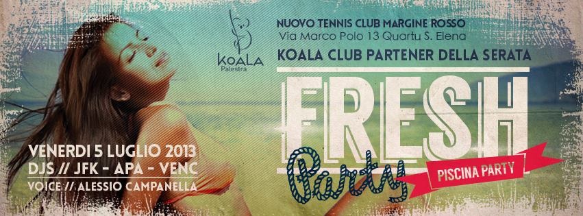 "Cagliari Low Cost:""Fresh Piscina Party"" al Margine Rosso"