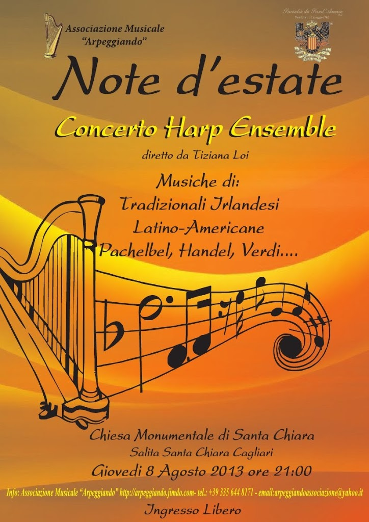 "Concerti a Cagliari: Haro Ensemble  ""Note d'estate"" 8 agosto 2013"