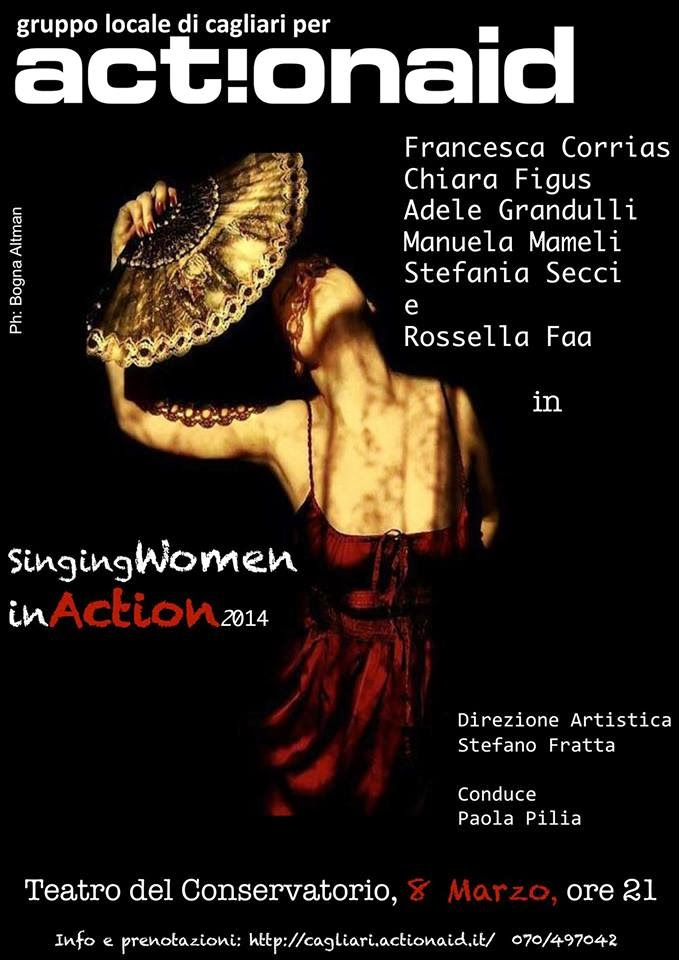 Singing Women in Action 2014: Sabato 8 Marzo al Conservatorio di Cagliari