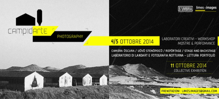 CAMPIDARTE | PHOTOGRAPHY | WORKSHOP | LABORATORI CREATIVI | USSANA (CAGLIARI) | 4-5 OTT
