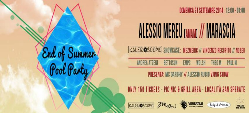 END OF SUMMER | POOL PARTY | KALEIDOSCOPIC | VERSATILE | ROBY & FRIENDS | DOM 21 SET