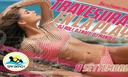 """Travesuras on the beach"":  tutte le domeniche al Sax Beach"