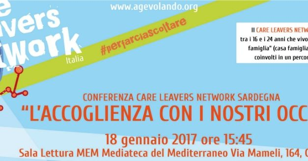 Conferenza regionale Care Leavers Network Sardegna – 18 gennaio 2017